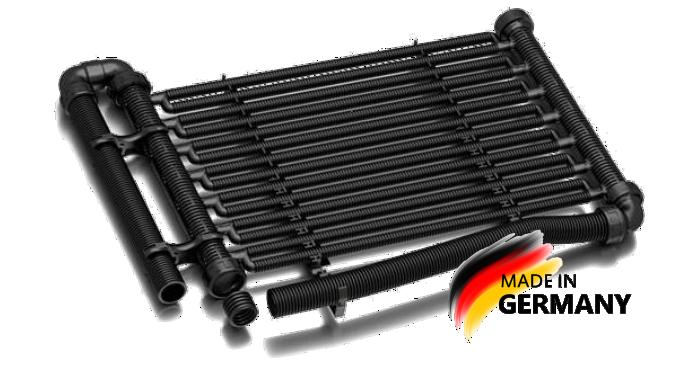 Coletor solar-rapid Premium para aquecimento de piscinas 2019. Gudenergy