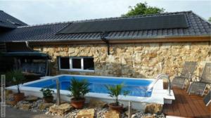 Aquecimento de piscinas 2017. Solar-rapid em telhado
